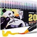 水彩マーカー- 水彩ペン - カリグラフィーブラシペンセット - 水彩絵の具ペンセット - 20色セット - ポータブル - 洗濯可能 - 無毒