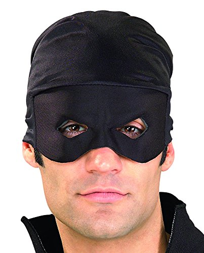Adult Zorro Bandana With Mask (Rubie's Costume Co Men's Zorro Adult Bandana and Eye Mask, Black, One Size)