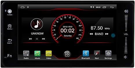 Tablero coche GPS navegación Witson en unidad principal Universal para Toyota 15,75 cm doble Din coche reproductor de DVD Radio estéreo Video pantalla táctil: Amazon.es: Electrónica