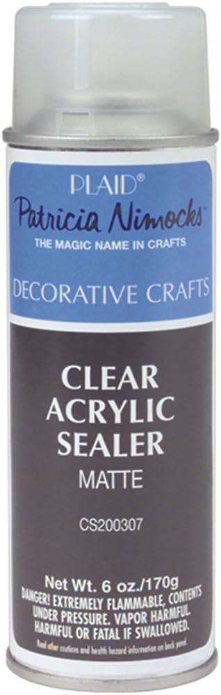 Plaid Clear Acrylic Sealer Aerosol Spray, 6 oz, Matte