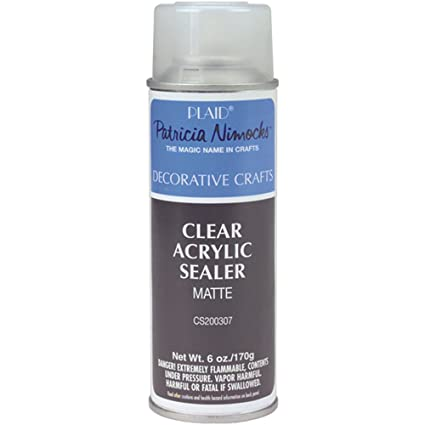 amazon com plaid craft clear acrylic sealer aerosol spray 6 ounce