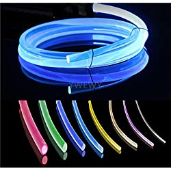3.28ft PMMA Plastic Optic Fiber Side Glow Cable for LED Light Source (0.06in)
