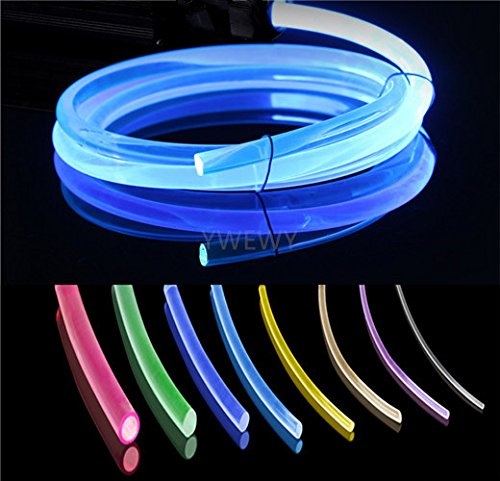 3.28ft PMMA Plastic Optic Fiber Side Glow Cable for LED Light Source (0.16in) -