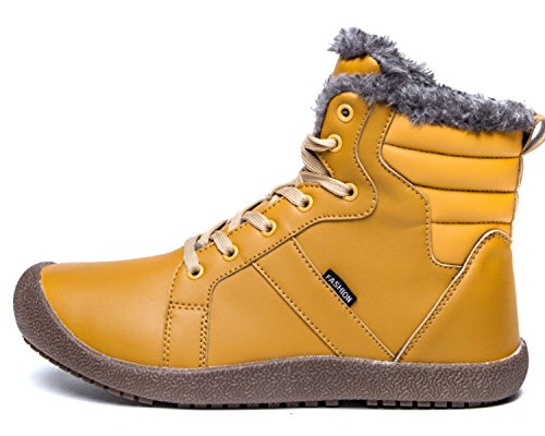 with Fully Winter Slip Lined Outdoor Mens High Top Booties Ankle Women Fur Shoes Eagsouni Boots Anti Yellow Snow FYqxg0w