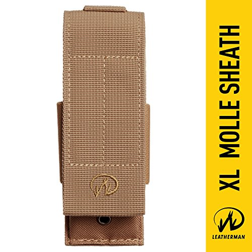 LEATHERMAN - MOLLE Compatible X-Large Nylon Sheath, Fits MUT, Surge Super Tool 300 - Brown