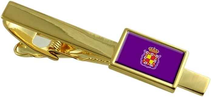 Select Gifts Jaén Ciudad Bandera España Clip de Corbata de Oro Personalizado Grabado: Amazon.es: Joyería