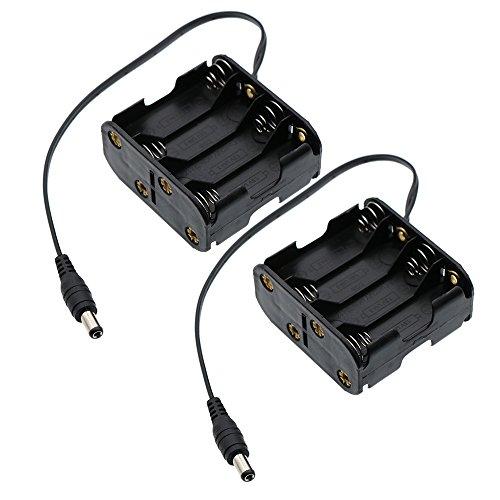 CO RODE DC 12V Male Connector Battery Holder Case (AA Battey Type, 8 x 1.5V, 2-Pack)