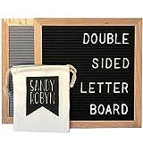 Double Sided Letter Board - 614 Characters 10x10 Black + Gray Felt