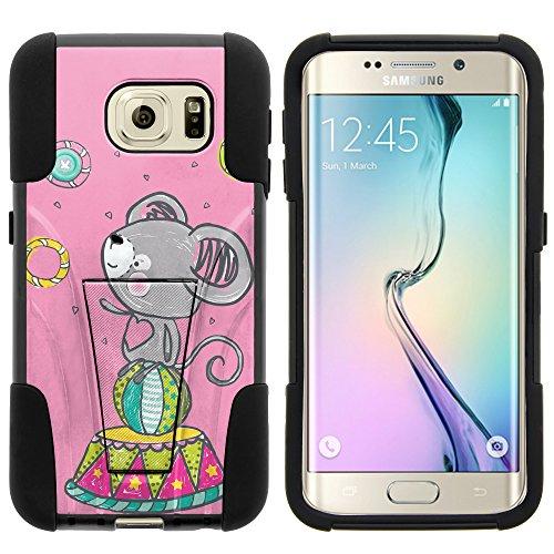 MINITURTLE Case Compatible w/Galaxy S6 Edge Case, Fusion Strike Impact Stand Case w/Exclusive for Samsung Galaxy S6 VI Edge SMG925 (T Mobile, Sprint, at&T, US Cellular, Verizon) Circus Koala