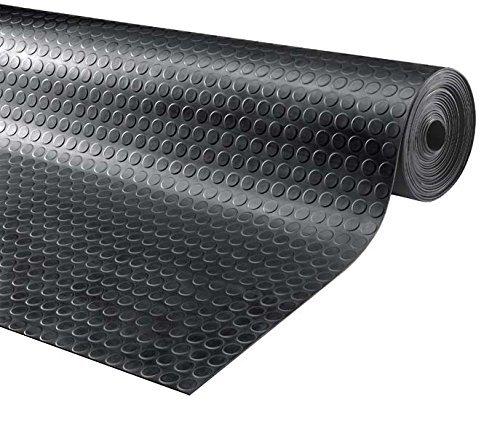 1.2m de ancho 4m de largo antideslizante Piso de goma taller estable alfombrilla para suelos de seguridad para garaje moneda de rollo 3mm de espesor gimnasio Parque etc