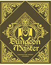 Dungeon Master Character Sheet Journal: DnD Notebook With 50 Character Pages and 100 Mixed Pages (Lined, Graph, Hex & Blank)For Role Playing Fantasy Games I Campaign Adventure Planner Gifts For RPG Players To Create Characters, Maps, Track , Plan & More
