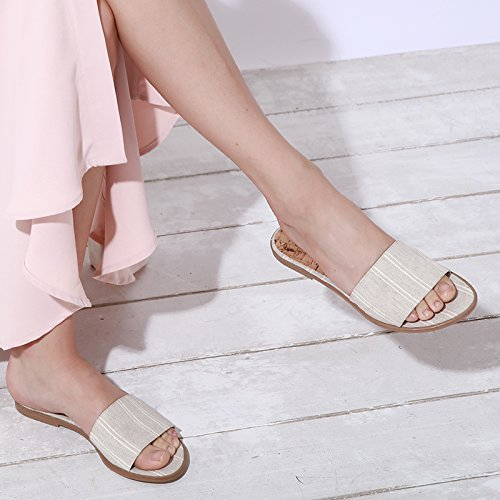 Womens Boheme Vegan White Bourgeois Sandal Textile Felicity Flat 1qSn1tFd