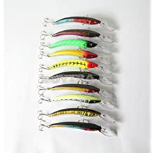 "genric Lowest price 15.5cm/6.1"" Lot10 CrankBait Plastic Minnow Bass Tackle Fishing Lures"
