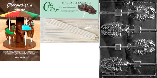 Cybrtrayd 'Lobster Lolly' Nautical Chocolate Candy Mold with