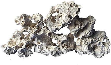 TM Aquatix - Tanque de Acuario para Acuario (Piedra caliza), Color Blanco
