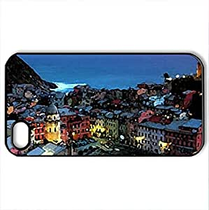 Beautiful sunset (Un suggestivo tramonto) - Case Cover for iPhone 4 and 4s (Monuments Series, Watercolor style, Black)