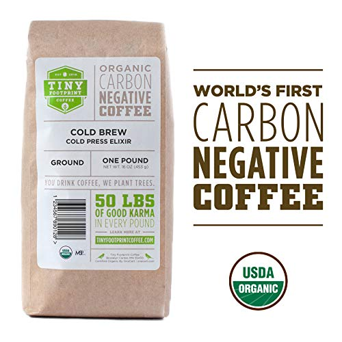 Tiny Footprint Coffee - Organic Cold Brew Cold Press Elixir |USDA Organic | Carbon Negative