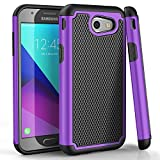 Galaxy J3 Emerge Case,TILL [Protective Buffer] Shock Absorbing Dual Layer Hybrid Rubber Plastic Impact Defender Rugged Slim Hard Case Cover Shell For Samsung Galaxy J3 Emerge 2017 J327 [Purple]