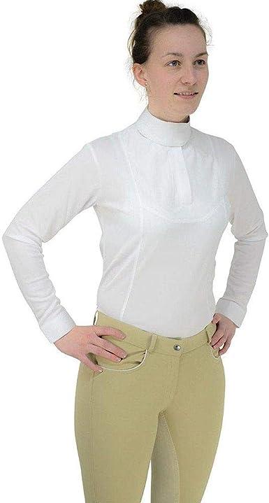 HyFASHION - Camisa de Manga Larga con plastrón para ...