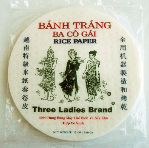 Three Ladies Spring Roll Rice Paper Wrappers (Round 16cm 3pks) ()