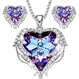 CDE-Jewelry-Set-for-Women-Angel-Wing-Swarovski-Crystal-Pendant-Necklace-Heart-of-Ocean-Stud-Earrings-for-Girls