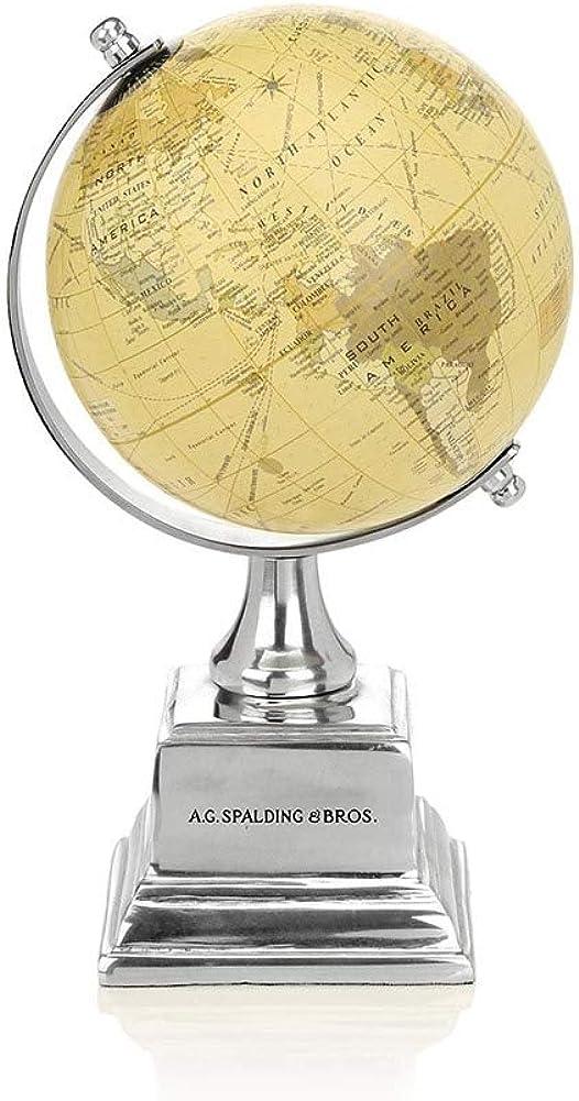 Spalding/&Bros 862845U828-Alluminio Accessori Oggettistica Globo Piccolo