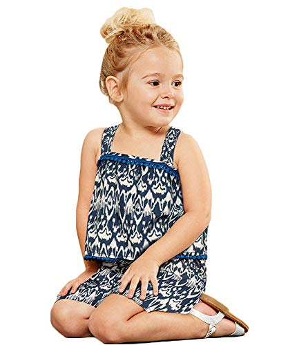 Little Girl Summer Cool Outfits Set Casual Cotton Sun Tank Top Tee Vest Shorts Pajamas Suit 2PC -