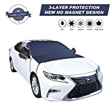 Cypropid Car Windshield Snow Cover, 3-Layer Protection and Double Side Design, Keep Snow & Ice Off, No More Scratch Paint, Windshield Sun Shade Protection, Extra Large Fit Most Car, Van, SUV(81