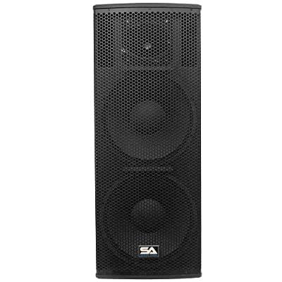 Seismic Audio Magma-215 Premium Dual 15-Inch Full Range/Bi-Amp 2-Way Loudspeaker Cabinet 1000-Watts RMS by Seismic Audio Speakers, Inc.