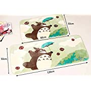 Sytian® 50*120cm Super Soft Non-slip Absorbent My Neighbor Totoro Area Rug Carpet Bedroom Bathroom Kitchen Floor Mat Shower Rug