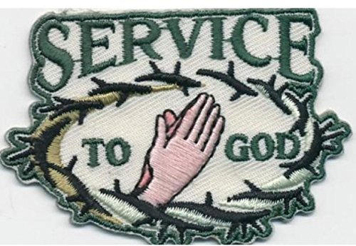 Cub Girl Boy SERVICE TO GOD Embroidered Iron-On Fun Patch Crests Badge Scout Guides