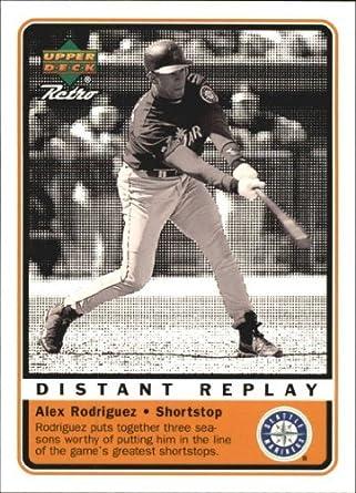 Amazon com: 1999 Upper Deck Retro Distant Replay #D7 Alex Rodriguez