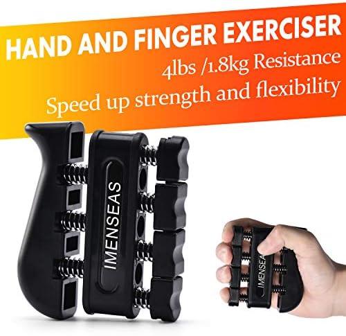 IMENSEAS Hand Grip Strengthener 7 Pack Adjustable Hand Gripper Finger Stretcher