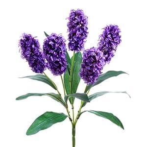"18"" Silk Hyacinth Flower Bush -2 Tone Purple (Pack of 12) 66"