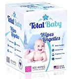 Mark total wipes Baby Natural Sensitive Baby Wipes 800 Count (10 Pack of 80 Count) Made with Pure Water, Alcohol-Free, Fragrance-Free Wet Wipes, Vitamin E, Hypoallergenic: more info