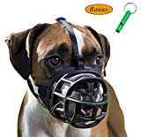JeonbiuPet Pet Dog Muzzles, Dog Mouth Cover Soft Adjustable Breathable Silicone Dog Basket Muzzle for Training Biting Barking Chewing Panting (Size 5)