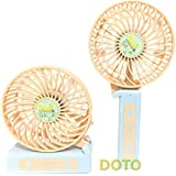 Handheld Fan [CUTE]Fruit SeriesMini Personal Portable Electric Fan 3 Speeds Folding Design for Office Room Outdoor Household Traveling (Orange)