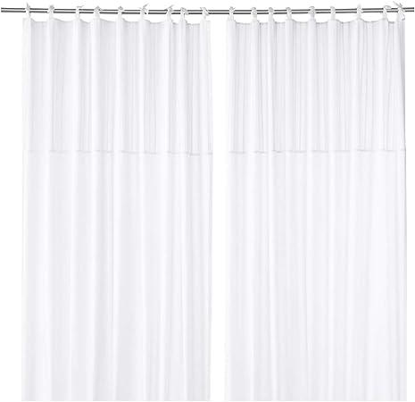 Ikea Parlblad Rideaux 1 Paire Blanc 144 8 X 248 9 Cm 803 128 99