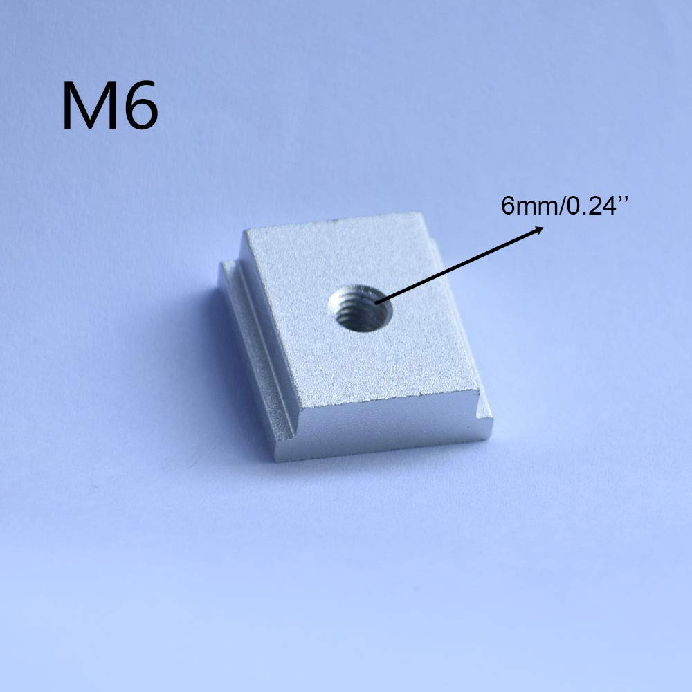 embo/îtement Lot de 10 curseurs en T M6 M8,/Écrou coulissant pour fente en T pour divers travaux de menuiserie//rail en T /Écrous /à rainure en T pour outil /à bois