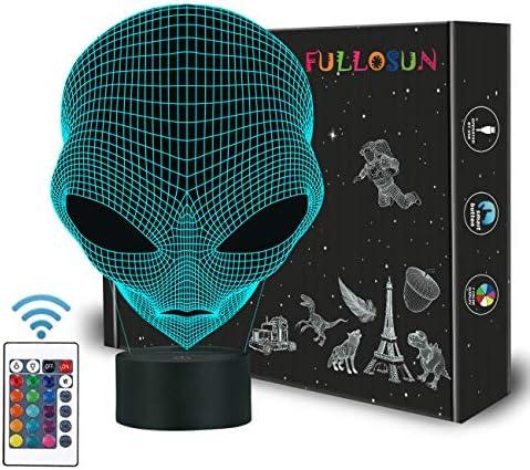 3D Kinder Nachtlicht Martian ET Projektion LED Lampe Alien Kindergarten Nachtlicht für Kinderzimmer Wohnkultur Weihnachten Geburtstagsgeschenke mit Fernbedienung 16 Farbwechsel