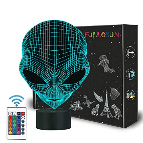 FULLOSUN 3D Baby Night Light Martian ET Projection LED Lamp Alien Nursery Nightlight for Kids Room Home Decor Xmas Birthday Gifts with 7 Color Changing
