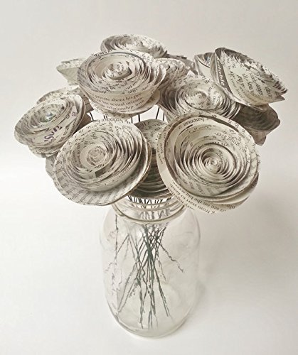Amazon newspaper flower bouquet home decor floral arrangement newspaper flower bouquet home decor floral arrangement weddings showers birthdays parties mightylinksfo