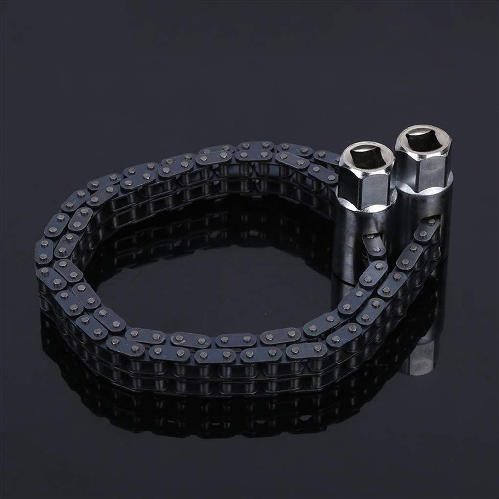 DANDANdianzi 44//52-Secci/ón Llave Allen Tipo de Cadena Llave del Filtro de Aceite de la m/áquina de Doble Cadena Aceite Mano Llave del Filtro