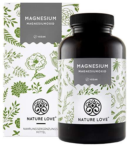 Magnesium – 660mg, davon 400mg elementares Magnesium je Kapsel - höher konzentriert als Magnesiumcitrat. 365 Kapseln im Jahresvorrat. Laborgeprüft, hochdosiert, vegan, hergestellt in Deutschland