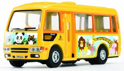 1/55 三菱ふそう ローザ ようちえんバス(イエロー×オレンジ) 「ダイヤペット タクシー・バスコレクション DK-4109」 0000312