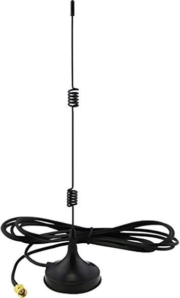 7dBi Omni direccional de alta ganancia antena para 2.4 GHz Wireless CCTV, AV remitente o WIFI- incluye hembra SMA y M2 M SMA adaptador