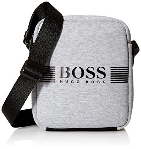 BOSS Green Men's Pixel Jersey Zip Envelope Bag, Medium Grey by Hugo Boss