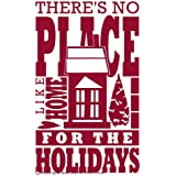 Wall Decor Plus More WDPM2291 There's No Place Like Home for The Holidays Wall Art Sticker Vinyl Decal, 14W x 23H, Red, 1-Pack