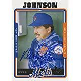 Davey Johnson Signed 2005 Topps Card - Mets - Portrait - Sitting on bench side view