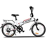 ANCHEER Power Plus Folding Electric Mountain Bike with Lithium-Ion Battery